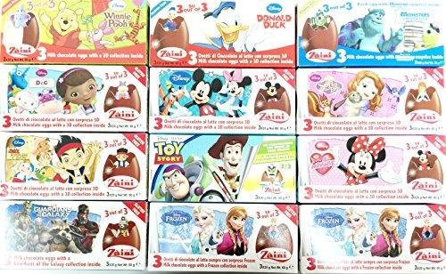 12 Boxes of Zaini Disney Milk Chocolate Surprise (Italy Import)