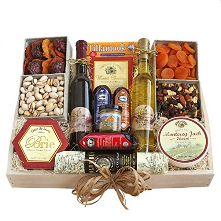 Deluxe Wine Country Gourmet Fathers Day Gift Assortment