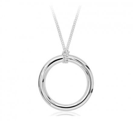 Momma's Jewels Sterling Silver Teething Necklace, 1 Ring