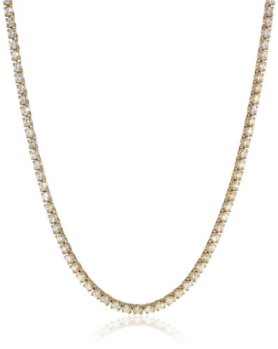 14K Yellow Gold Diamond Tennis Necklace (9.00 cttw, I-J Color, I1-I2 Clarity), , 17″