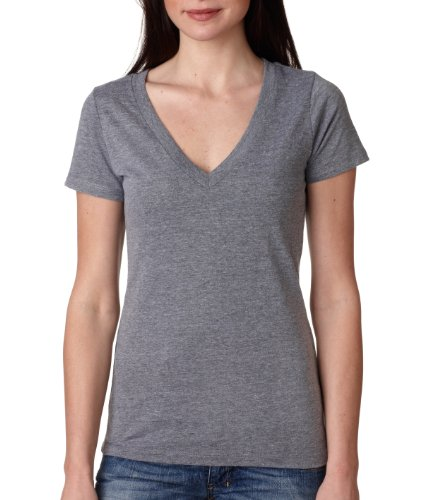 Ladies Tri-Blend Deep V