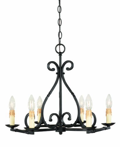 World Imports 61817-42 Rennes Collection 6-Light Chandelier, Rust