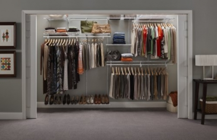 ClosetMaid ShelfTrack Closet Organizer, 7 to 10-Feet