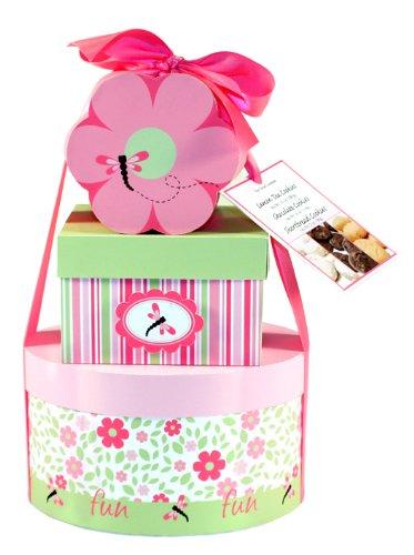 Too Good Gourmet Flower Power Spring Pink Flower Cookie Tower