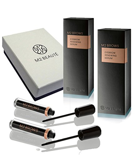 International Shipping – M2Brows Eyebrows Growth Serum & M2Beaute Gift Box | 2x5ml M2Brows 6 Months