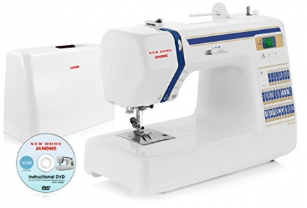 Janome JW7630 Computerized Sewing Machine with 30 Built-In Stitches w/ Hard Cover + Instructional DV
