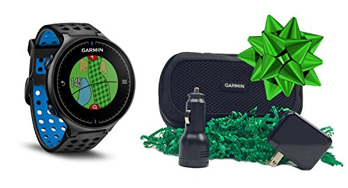 Garmin Approach S5 GIFT BOX | Includes S5 Golf GPS Watch (Black/Blue), Carry Case, Wall & Car Charge