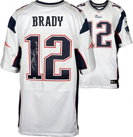 Tom Brady New England Patriots Autographed White Nike Elite Jersey with SB 49 MVP Inscription – Fana