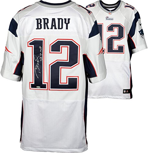 Tom Brady New England Patriots Autographed White Nike Elite Jersey with SB 49 MVP Inscription – Fana