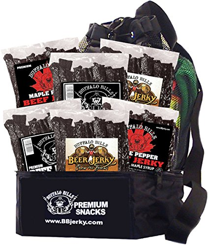 Buffalo Bills Six Pounder Backpack Gift Cooler (filled w/ 6 lbs of Buffalo Bills Premium Beef Jerky)