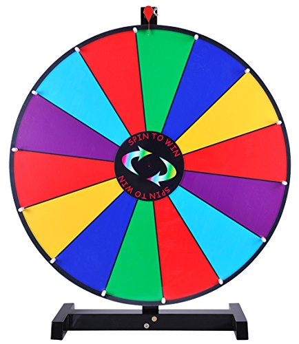 24″ Tabletop Spinning Prize Wheel 14 Slots with Color Dry Erase Trade Show Spin Game