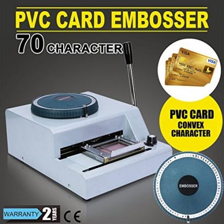 VEVOR Embossing Machine 70 Character Embosser Manual Hot Foil Card Making VIP Club Card Credit Card