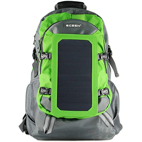 ECEEN® 7Watts Solar Backpack, Solar Charger Bag, Unique Solar Charger for iPhone, iPad, iPod, Samsu