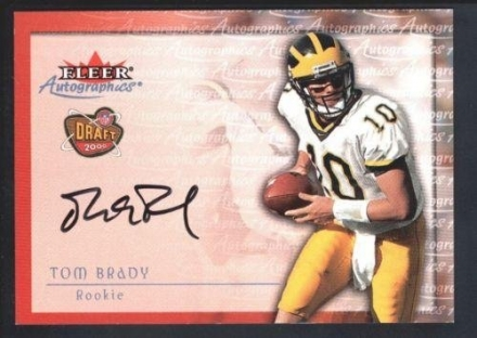 Tom Brady 2000 Fleer Tradition Rc Rookie Autographics Autograph Sp Auto Mint – NFL Slabbed Autograph
