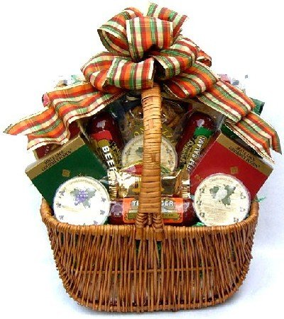 Gift Basket Village A Cut Above Fall Cheese and Sausage Gift Basket, Large