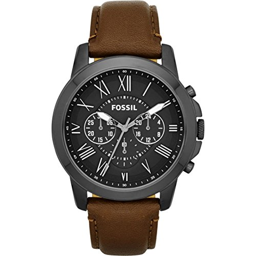 Fossil Grant Chronograph Leather Watch