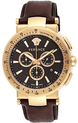 Versace Men's VFG060013 Mystique Sport 46mm Rose Gold Ion-Plated Coated Stainless Steel Chronograph