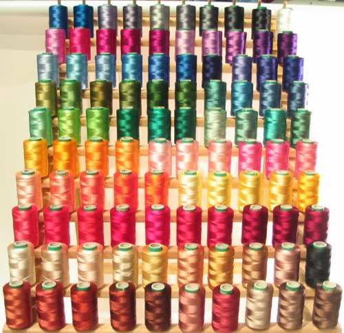New ThreadNanny 160 Rayon Machine Embroidery Threads with Rack – 160 Colors & Gift