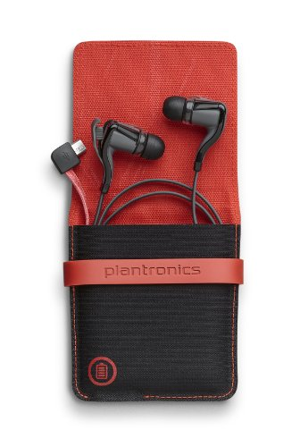 Plantronics BackBeat Go 2 Wireless Hi-Fi Earbud Headphones with Charging Case – Compatible with iPho