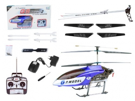 53″ Extra Large GT QS8006 2 Speed 3.5 Ch RC Helicopter Builtin GYRO Blue