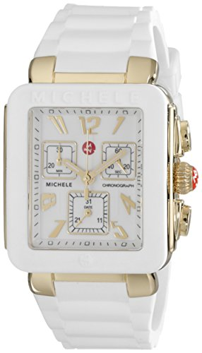 MICHELE Women's MWW06L000013 Park Jelly Bean Watch With White Band
