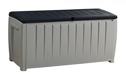 Keter Novel Deck Box, 90 Gallon, Black/Gray