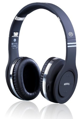 MiiKey  MiiRhythm Black Bluetooth Headphone with Microphone & HD Audio