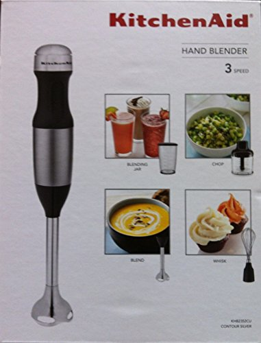 KitchenAid KHB2352CU 3-Speed Hand Blender – Contour Silver
