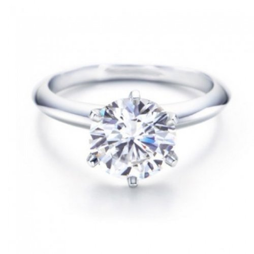 2.18 Carat GIA Certified Round Cut 6 Prong Solitaire Diamond Engagement Ring (H Color I2 Clarity)