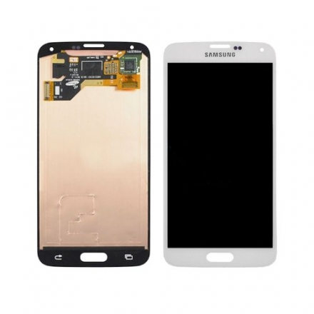 White And Black LCD Display Touch Screen Assembly Replacement For Samsung Galaxy S5 (White)