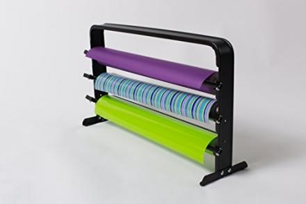 24″ – 3 Roll Counter Top Gift Wrap Dispenser & Cutter – Matte Black – Bulman T324