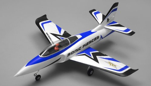 Airfield Sonic Piercer 64mm EDF Jet Ready to Fly RC 4 Channel 800mm Wingspan (Blue)