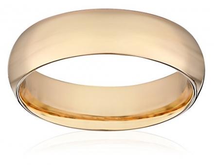 Men's 14k Yellow Gold Comfort-Fit Plain Wedding Band (6 mm)