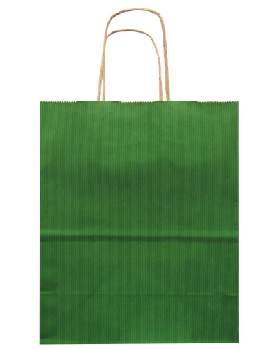 Jillson Roberts Bulk Medium Recycled Kraft Bags, Green, 250-Count (BMK913)