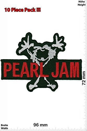 Patch – Pearl Jam – Musicpatch – Rock – Vest – Iron on Patch – Embroidered Sign Applique Costume Gif