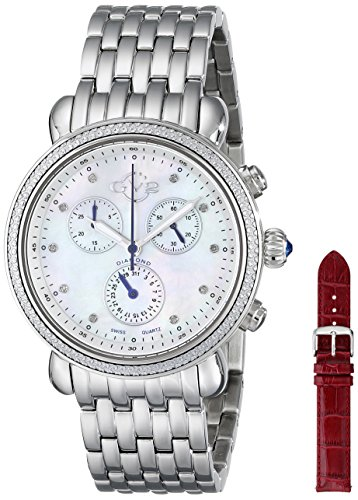 GV2 by Gevril Women's 9801 Marsala Stainless Steel Watch With Interchangable Bands