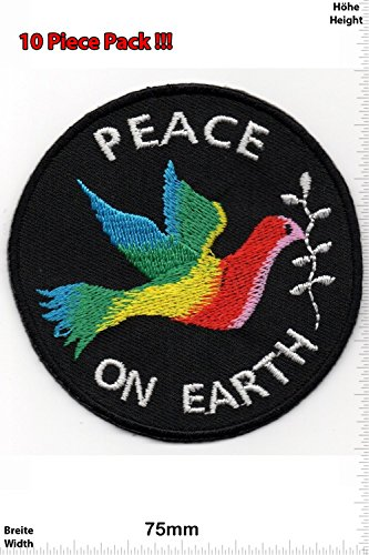 Patch – Peace on Earth – Peace – Peace Dove – Punk Patch – Vest – Iron on Patch – Embroidered Sign A