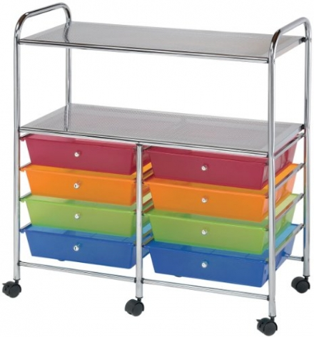 Blue Hills Studio Double Storage/Utility Cart with 8-Drawers