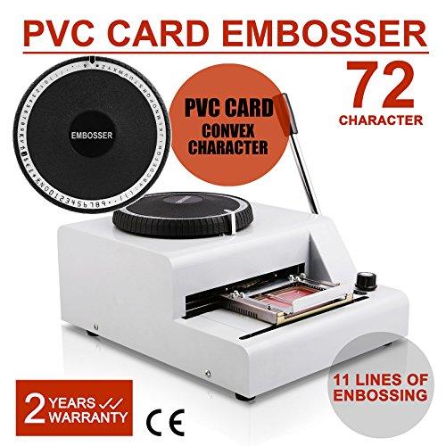 FairlyTrade 72-Character Embosser Embossing Machine Manual Credit PVC Card VIP ID Printing Tool (72