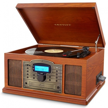 Crosley CR7002A-PA Troubadour 3-Speed Turntable with USB/SD Card Reader to Transfer Albums to Memory
