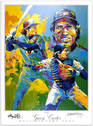 Gary Carter and Artist Autographed Lithograph with Hall of Fame 2003 Inscription – Fanatics Authenti