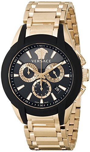 "Versace Men's M8C80D008 S080 ""Character"" Rose Gold Ion-Plated Watch"