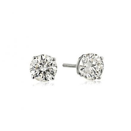 IGI-Certified 14k Gold Round-Cut Diamond Stud Earrings (1.5 cttw, H-I Color, SI2-I1 Clarity)