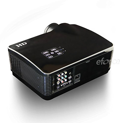 Eforce Full HD LED Home Theater Projector 4500 lumens High Brightness For Daytime Use With Free Gift