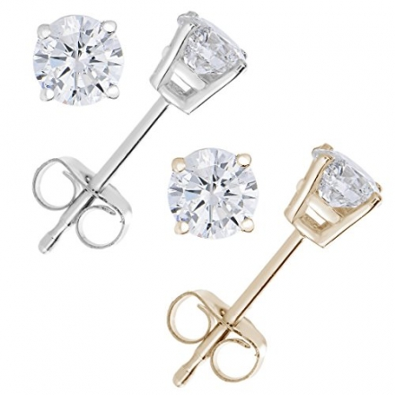 1 CT Diamond Stud Earrings 14k Gold