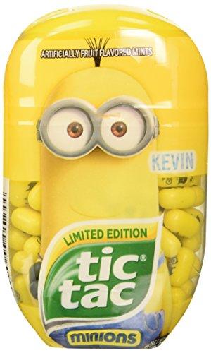 Tic Tac Limited Edition Despicible Me Minion Bundle, Kevin, Bob and Stuart, 3.4 oz each