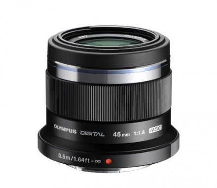Olympus M. Zuiko Digital ED 45mm f1.8 (Black) Lens for Olympus and Panasonic Micro 4/3 Cameras