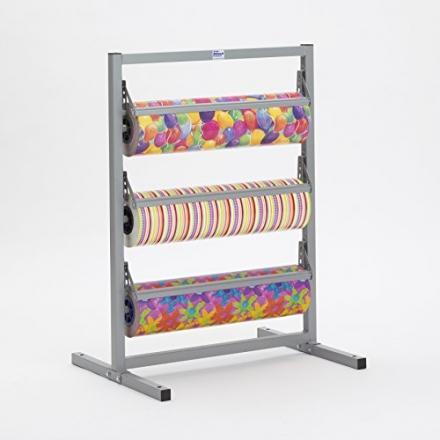 48″ Width 3 Deck Tower Paper Roll Dispenser – 9″ Diameter – 3″ Core – Bulman T368R-48