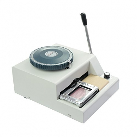 HomCom Manual Embossing Machine – Grey White