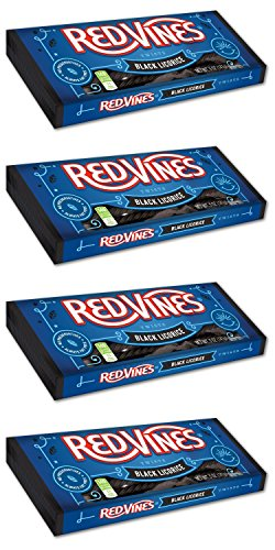 Red Vines Licorice Twists 5 oz Tray (Pack of 4) (Black Licorice)
